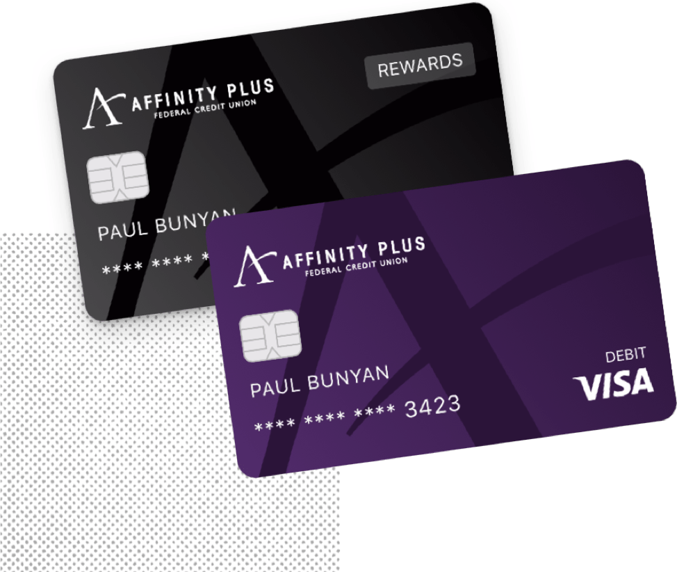 Affinity Plus debit card and credit card