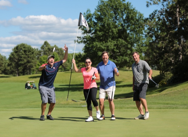 Affinity Plus Foundation donors play golf at the charity tournament