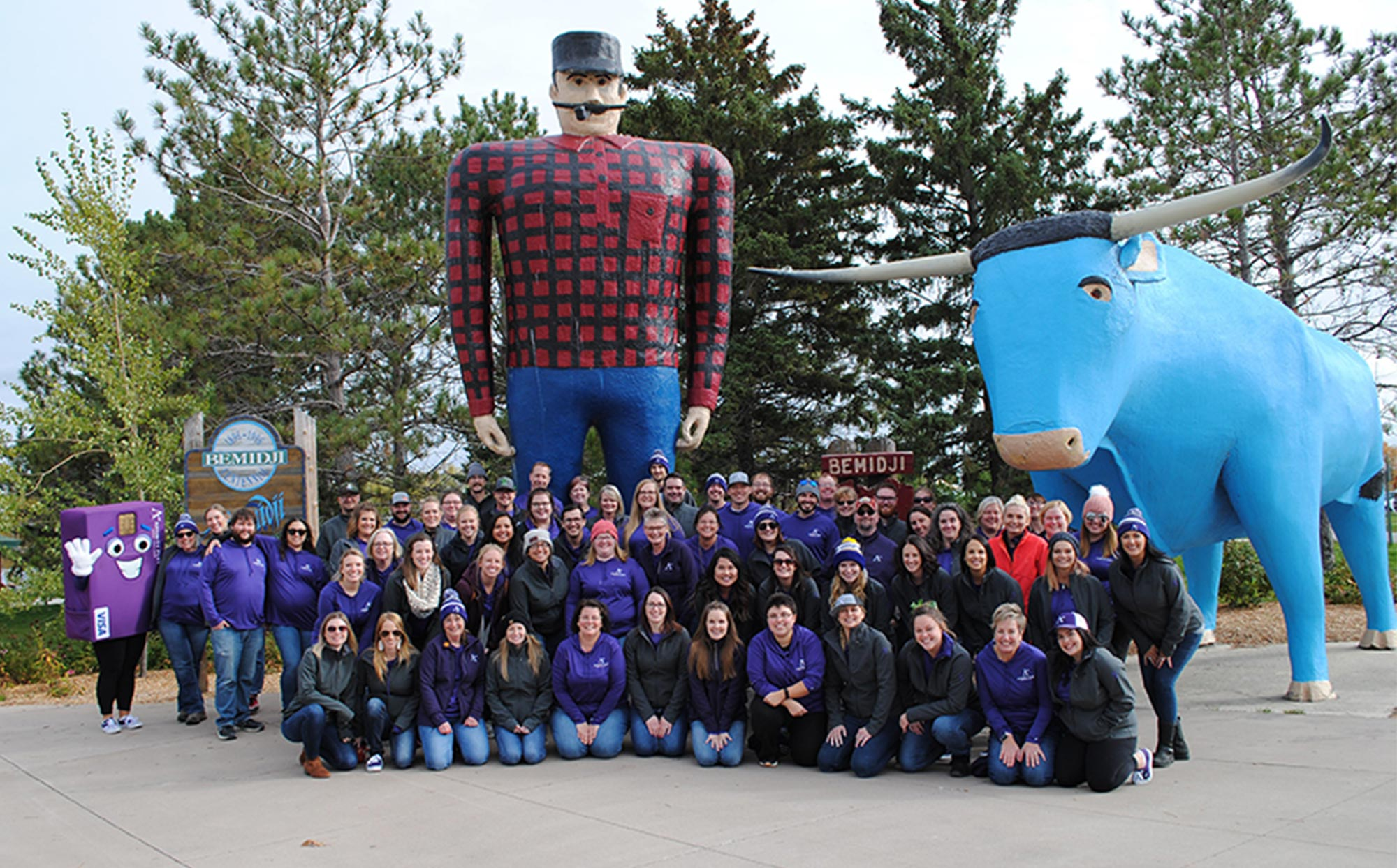 Employees from Affinity Plus are featured in Bemidji.