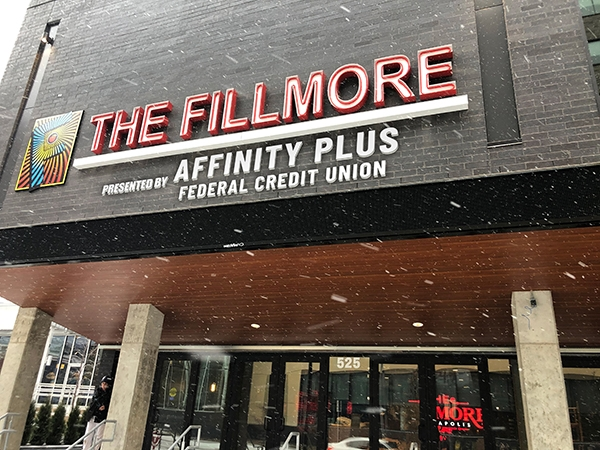 Front elevation view of The Fillmore Minneapolis Presented by Affinity Plus