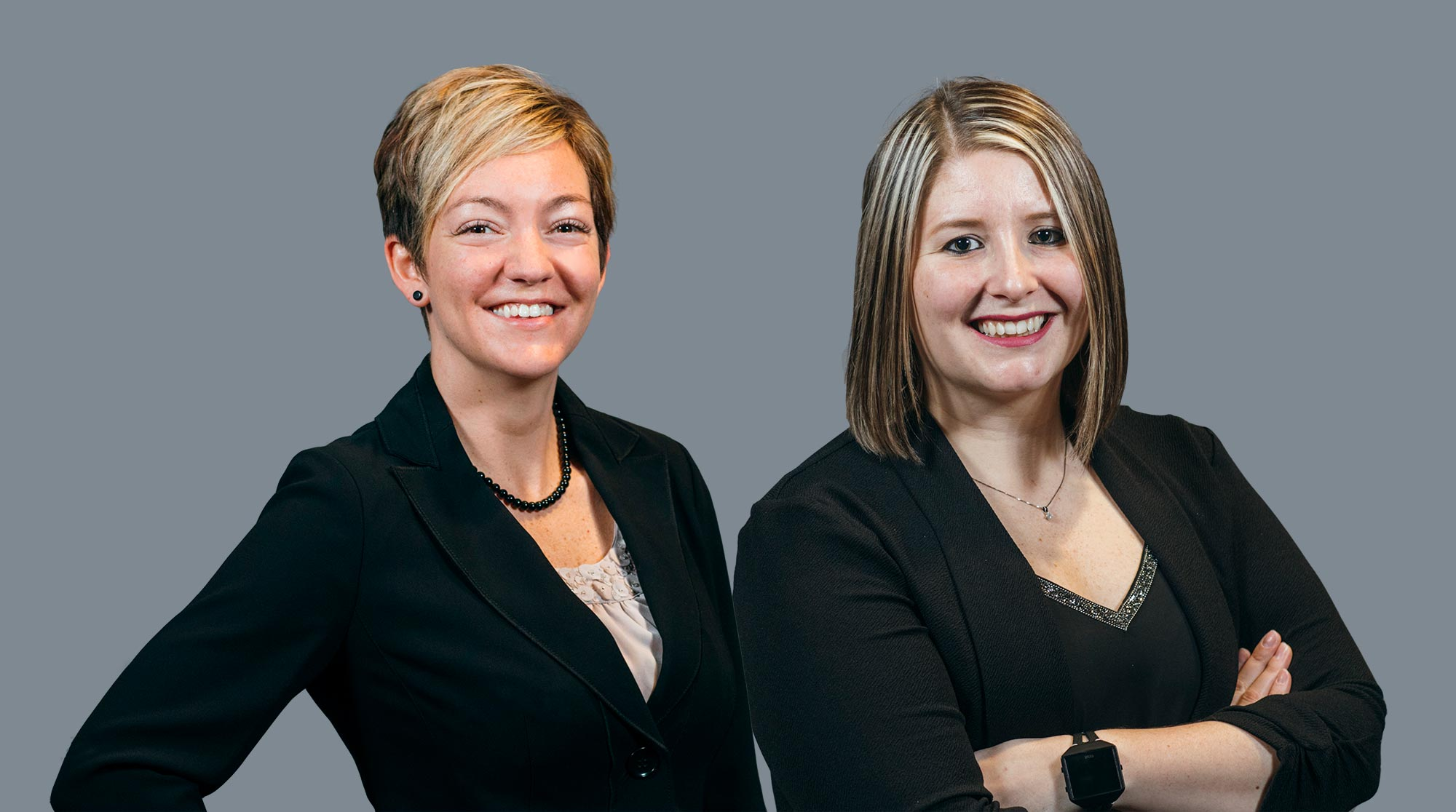 headshots of two women