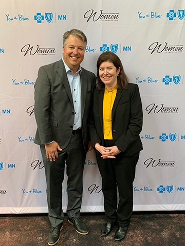 Teri Laufers and Dave Larson at the Women in Business Luncheon
